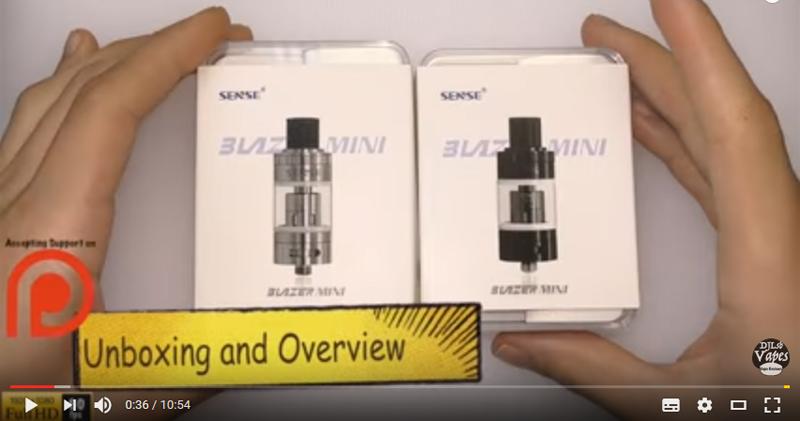 Sense Blazer mini Unboxing + First Impressions - DJLsb Vapes